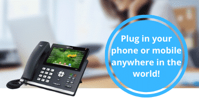 Hosted 3CX - Plug in your phone or mobile anywhere in the world!